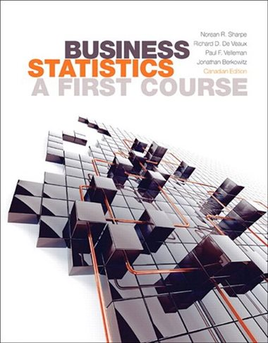 Business Statistics: A First Course, 1st Canadian edition - book cover